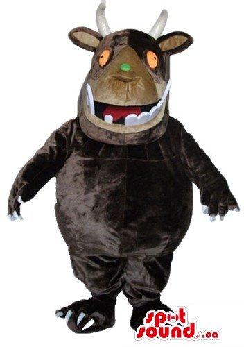 Gruffalo cartoon character SpotSound Mascot US costume fancy (Gruffalo Characters Costume)