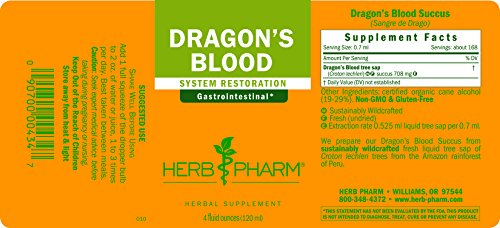 Herb Pharm Dragon's Blood (Sangre de Drago) Liquid Tree Sap for Digestive Support - 4 Ounce by Herb Pharm (Image #1)