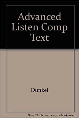 Advanced Listening Comprehension Book