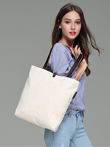 So'each Women's Canvas Beach Shopper Top Handle Canvas Tote Shoulder Bag