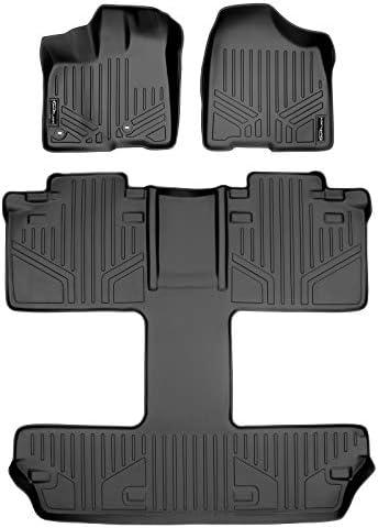 MAXLINER Floor Mats 3 Row Liner Set Black for 2013-2018 Toyota Sienna 7 Passenger Model