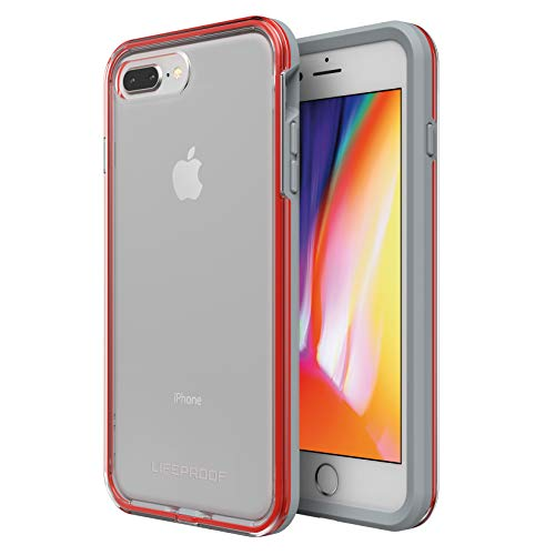 Lifeproof SLAM Series Case for iPhone 8 Plus & 7 Plus (ONLY) - Retail Packaging - Lava Chaser (Clear/Cherry Tomato/Sleet)