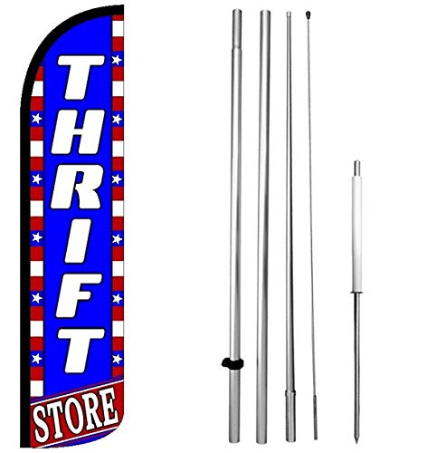 Thrift Store Windless Feather Swooper Flag Banner Sign Kit - bz-h]()