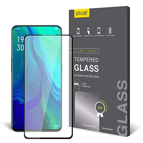 Olixar Oppo Reno Screen Protector, [Tempered Glass] - Easy Application - 9H Hardness Anti Scratch, Bubble Free, Anti Fingerprint for Oppo Reno