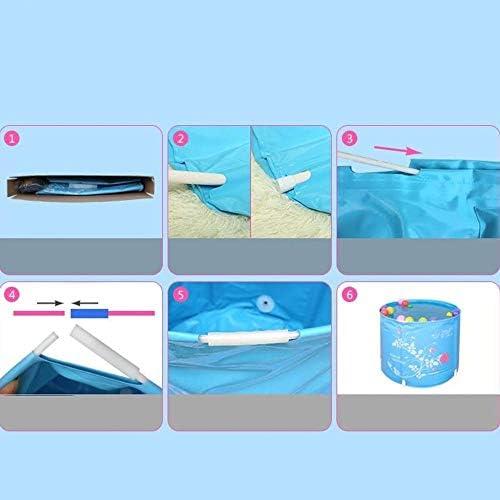 折りたたみ浴槽青は浴槽インフレータブル肥厚プラスチック大人浴槽70 * 65 Cmを必要としません