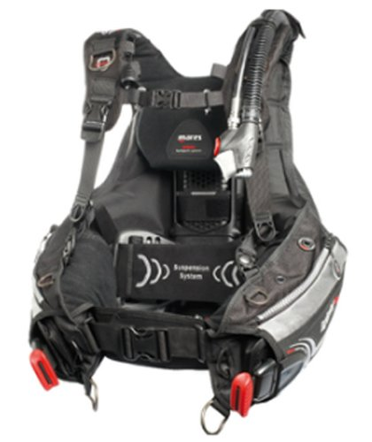 Mares Hybrid with MRS + Scuba Diving Plus BC/BCD Buoyancy Compensator (Medium/Large (42.5lbs of lift))