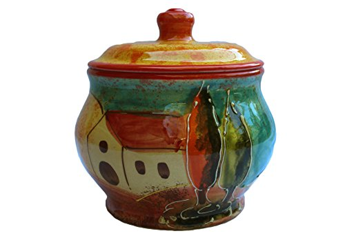 Storage Jar - 1.5 Quarts - Hand Painted in Spain - Campo Design by Cactus Canyon Ceramics
