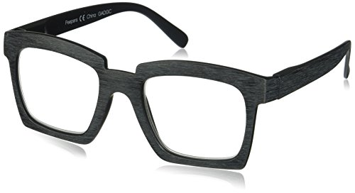 Peepers Women's Standing Ovation 2393125 Square Reading Glasses, Black, ()