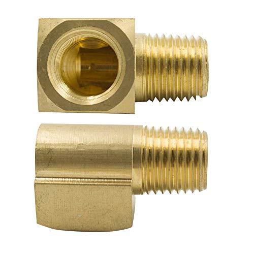 Legines Brass Pipe Fitting, 90 Degree Barstock Street Elbow, 3/8