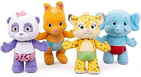 letaowl Juguete Peluche 4pcs / Lot 25cm Snap Toys Word Party Lulu, Bailey Franny KIP Panda Elephant Wallaby Peluches Peluche
