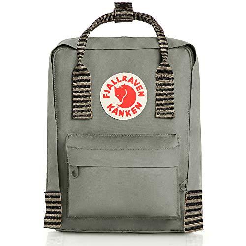 (Fjallraven - Kanken Mini Classic Backpack for Everyday, Fog/Striped)