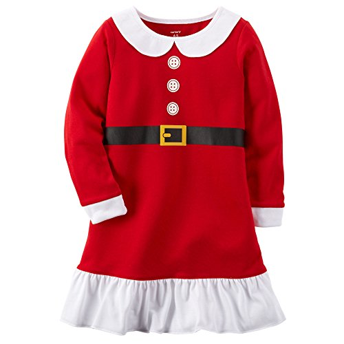 Carters Big Girls' Santa Holiday Gown (4/5) - Holiday Gown Sets