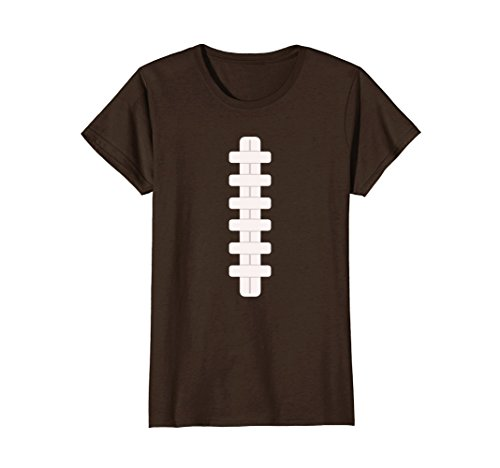 Womens Football Last Minute Halloween Costume Shirt Small Brown