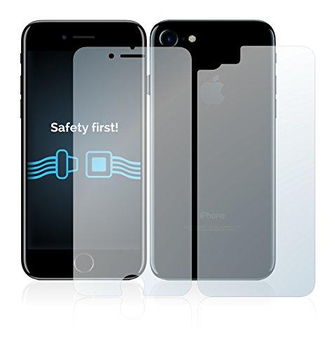 6x Savvies Pellicola Protettiva per Apple iPhone 7 (Anteriore + Posteriore) Protezione Proteggi Schermo Trasparente