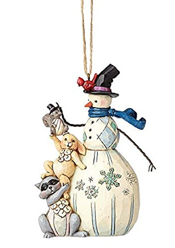 Country Snowman Ornament (Enesco Jim Shore Whimsical Snowman Ornament)