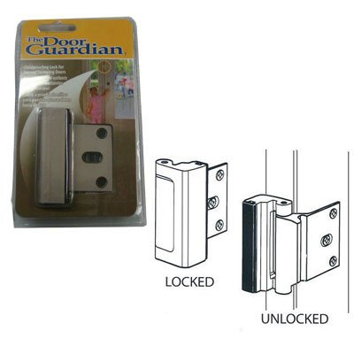 Childproof Deadbolt For Inward Swinging Doors   Satin Nickel Finish