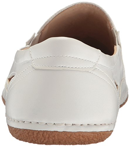 Stacy Adams Mens Napa-moc Toe Slip-on Oxford Bianco