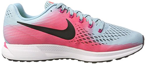(Nike Women's Air Zoom Pegasus 34 Running Shoe (Mica Blue/White/Racer Pink/Sport Fuchsia, 7.5 M US))