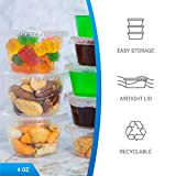 EDI Clear Plastic Disposable Portion Cups with