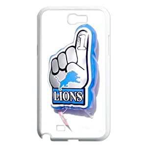 Detroit Lions Samsung Galaxy N2 7100 Cell Phone Case White 218y3-151021