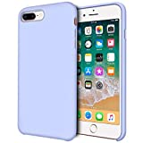 iPhone 8 Plus Case, iPhone 7 Plus Case, Anuck Anti-slip Liquid Silicone Gel Rubber Bumper Case Soft Microfiber Lining Slim Hard Shell Protective Case Cover for iPhone 7 Plus/8 Plus 5.5' - Light Purple