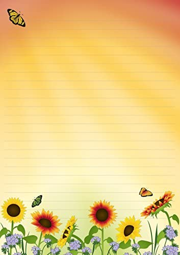 1 Schreibblock Sonnenblumenfeld 25 Blatt Format DIN A4 beidseitig bedruckt 7460