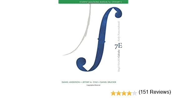 Student solutions manual chapters 1 11 for stewarts single student solutions manual chapters 1 11 for stewarts single variable calculus early transcendentals 7th james stewart 9780840049346 amazon fandeluxe Image collections