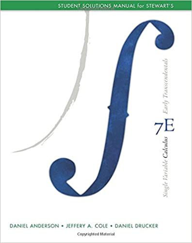 Student solutions manual for stewart's single variable calculus.