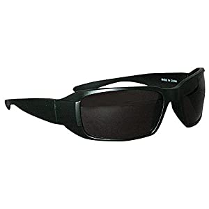 Ironwear Waterford 3015 Series Nylon Protective Safety Glasses, Grey Lens, Matte Black Frame (3015M-G)