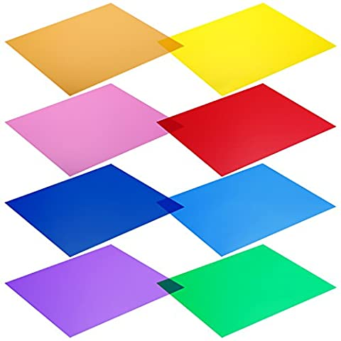 Neewer 12 x 12-Inches Pack of 8 Transparent Color Correction