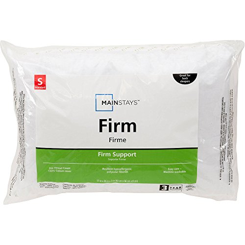Mainstays 200 Thread Count 100% Cotton Firm Pillow King Size