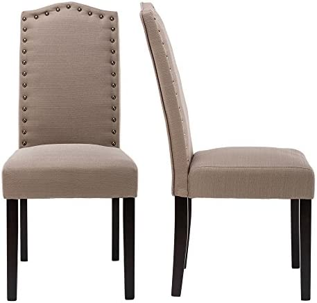 LSSBOUGHT Set of 2 Luxurious Fabric Dining Chair