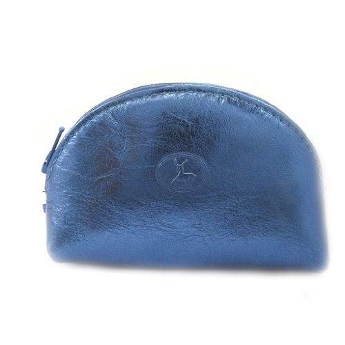 Portafoglio in pelle 'Frandi'electra blu.