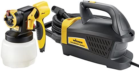 Wagner Spraytech Wagner 0529017 PaintReady Station HVLP Paint Sprayer, Paint or Stain Sprayer, Complete Adjustability for Decks, Cabinets, Furniture and Woodworking,Yellow Black