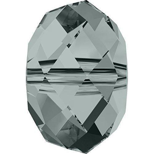 Swarovski 5040 Crystal Beads Briolette 6mm   Black Diamond   6mm - Pack of 10   Small & Wholesale Packs