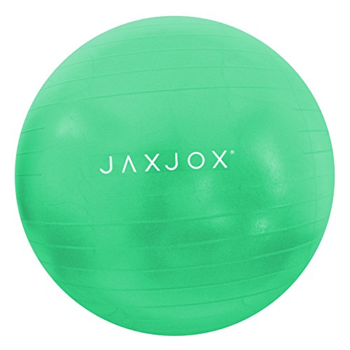 JAXJOX Balance Stability Gym/Swiss Ball 65cm (pump included), Green