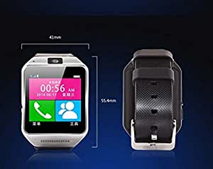Luxsure GV08 Smartwatch Smart Watch Phone Quad Band 1.54 Inch Bluetooth BT Dialer Camera (Black-GV08)