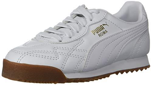 (PUMA Boys' Roma ANNIVERSARIO Sneaker White, 4 M US Big Kid)