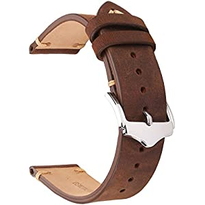 7dc3a502b EACHE Genuine Leather Watch Bands Crazy Horse/Oil Wax/Suede/Italy Bamboo  Pattern