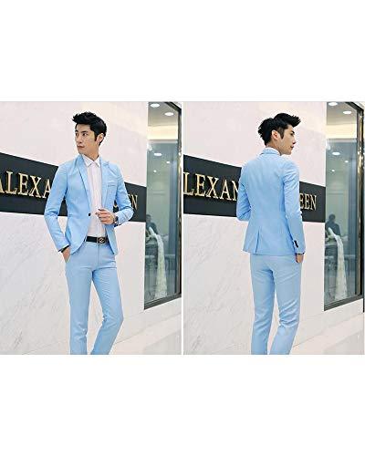 Chemise Ciel Bleu Pantalons Pièces De Kindoyo Vestes Costume Elégant Blazers Affaires 3 Hommes Marriage xU8Oq1w