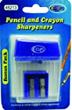 Pencil/Crayon Sharpeners - 2 Pack- Asst.Colors Case Pack 48 Computers, Electronics, Office Supplies