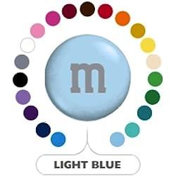 M&M's Light Blue Milk Chocolate Candy 5LB Bag (Bulk)