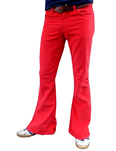 Corduroy Bell Bottom Jeans - 8