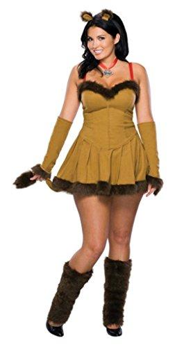 Rubies Womens Cowardly Lion Adults Animals Theme Party Fancy Halloween Dress, Plus (14-16) (Cowardly Lion Costume Plus Size)