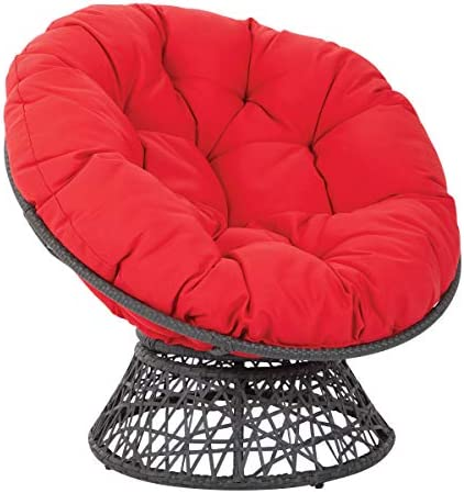 OSP Home Furnishings Papasan Chair with 360-degree Swivel ...