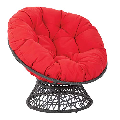 OSP Designs BF25292-RD Papasan Chair, Red
