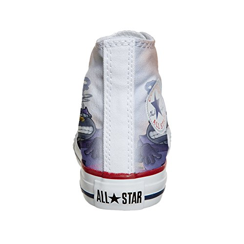 Converse Customized Chaussures Coutume (produit artisanal) Cartoon Old S