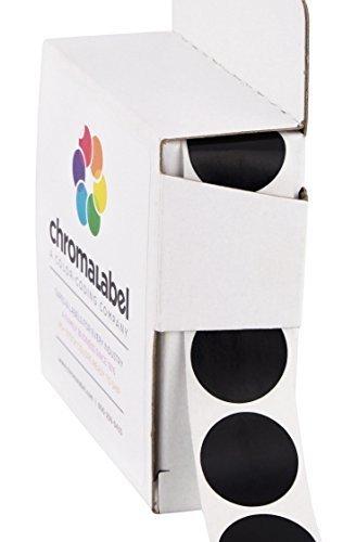 ChromaLabel 3/4 inch Color-Code Dot Labels   1,000/Dispenser Box (Black)