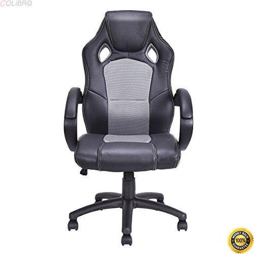 41DoMUQiFuL - COLIBROX--High Back Race Car Style Bucket Seat Office Desk Chair Gaming Chair Gray New,,video game chairs ,living room accent chairs,new Racing Style Reclining Gaming Chair,arm chairs