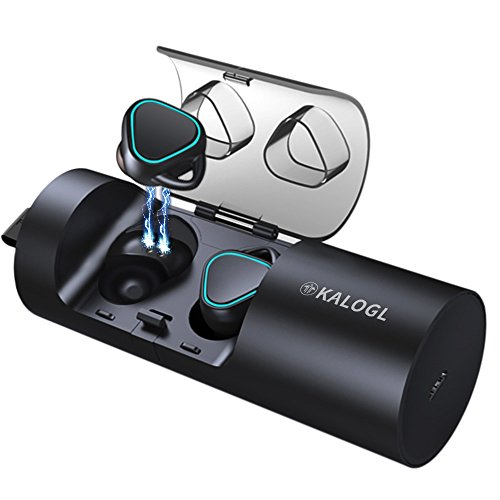 Wireless Earbuds Bluetooth Earbuds Bluetooth headsets IPX5 Waterproof Stereo Earphone with Charging Case Cordless Sport Headsets for All Bluetooth Devices (Black)